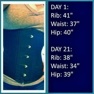 real waist training diary