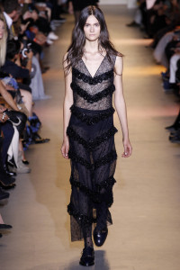 John Galliano ready to wear transparent dresses