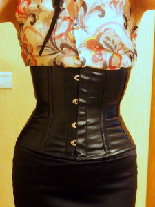 real waist training leather corset